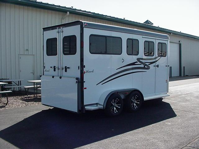 Hawk Elite Classic 2H Warmblood Size Straight Load - Dress/Tack Room - Ramp Behind Doors- Rumber Floor
