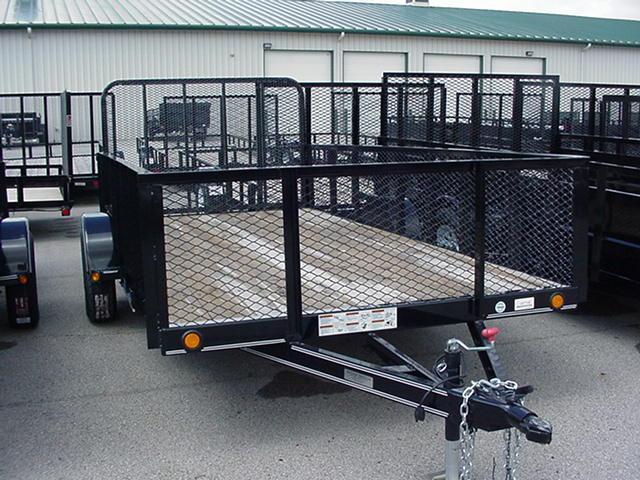 "Load Trail 77"" X 12' Single Axle w/ Mesh Ramp"