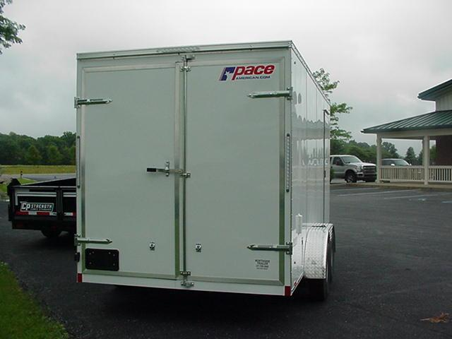 Pace American JV7X16TE2 SE Double Rear Doors and 12