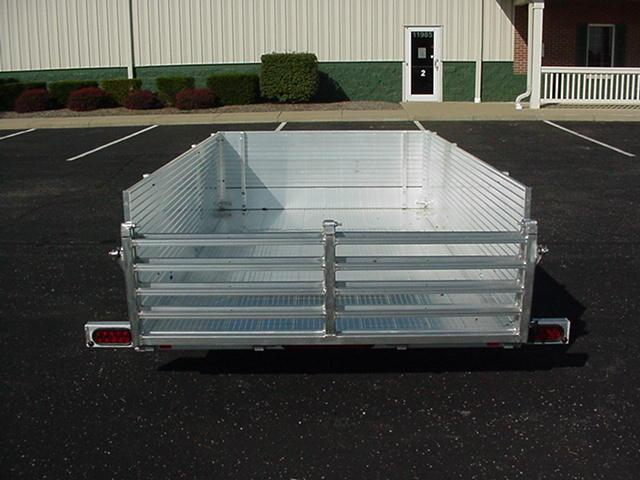 "Bear Track  65 x 10 SA Aluminum W/ BiFold Ramp & 24"" High Solid Sides and Front"