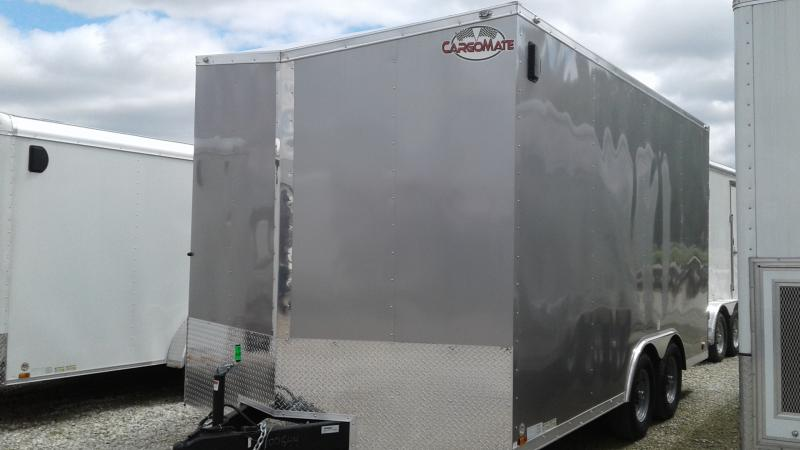 "2020 102x16 Cargo Mate EHW816TA3 Enclosed Cargo Trailer - Diamond Ice (RD)(GVW: 98000)(12"" Extra Height)"