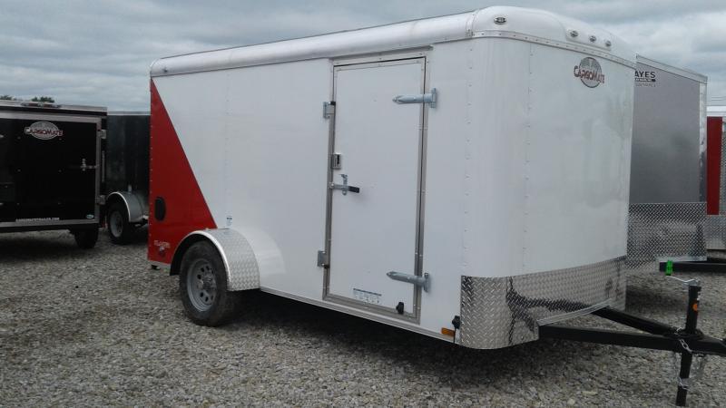 2020 6x12 SA Cargo Mate BL612SA Enclosed Cargo Trailer - Two Tone - Ramp Door (GVW:  2990)