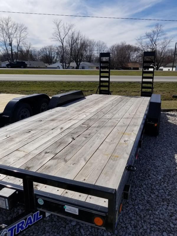 2018 83x20(18+2' Dovetail) Load Trail CH83 Equipment Trailer - w/ 5' Fold-up Ramps (GVW: 9990)