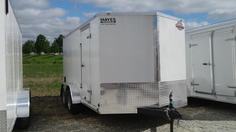 2019 7x14 TA Cargo Mate EHW714TA2 Enclosed Cargo Trailer - Double Door (GVW:  7000)