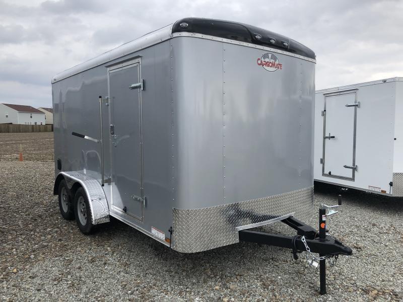 2019 7x14 Cargo Mate BL714TA2 Enclosed Cargo Trailer - Diamond Ice (RD)(GVW: 7000)