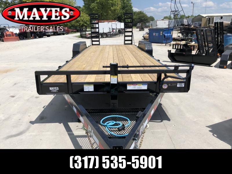 2020 24 Foot (22+2) TA PJ Trailers CC242 Equipment Trailer - Fold Up Ramps (GVW:  14000)