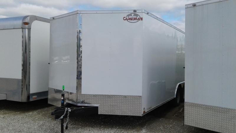 2020 8.5x20 TA Cargo Mate EHW8.520TA2 Enclosed Cargo Trailer - Ramp Door - Side Door - Spring Suspension (GVW:  7000)