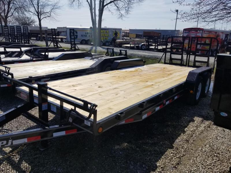 "2019 22' (20+2) PJ Trailers 22' x 6"" Channel Equipment Trailer - Split HD Gate (GVW:  14000)"