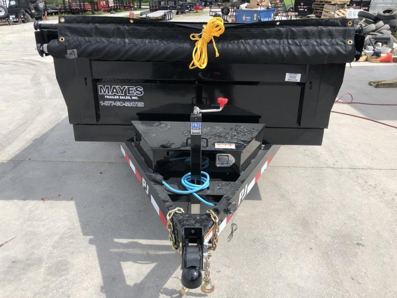 2020 72x12 TA PJ Trailers D3122 Dump Trailer - Ramps - Tarp Kit - Split/Spread Gate (GVW:  9899)