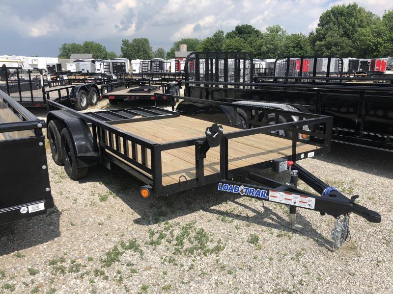 2018 83x14 Load Trail UE83 Utility Trailer - w/ 4' Spring Assist Gate (GVW: 7000)(ATV Ramps)