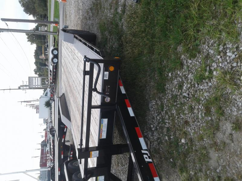 2019 102x24 PJ Trailers B8 Equipment Trailer - Straight Deck w/ 5' Slide-in Ramps (GVW: 14000) *Drive over fenders*