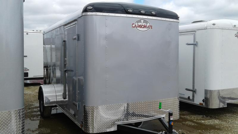 2020 6x12 SA Cargo Mate BL612SA Enclosed Cargo Trailer - Ramp Door - Two Tone (GVW:  2990)