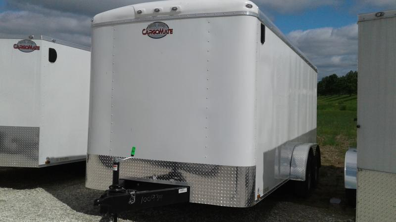 2020 7x16 TA Cargo Mate BL716TA2 Enclosed Cargo Trailer - Ramp Door - Spray Floor - 60