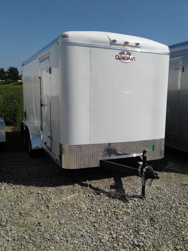 2019 7x14 Cargo Mate BL714TA2 Enclosed Cargo Trailer - Polar White (RD)(GVW: 7000)