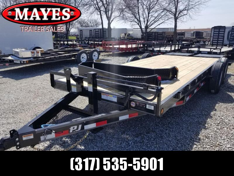"2019 20' 6"" Channel  PJ Trailers CC202 Equipment Trailer - Monster Ramps (GVW:  14000)"