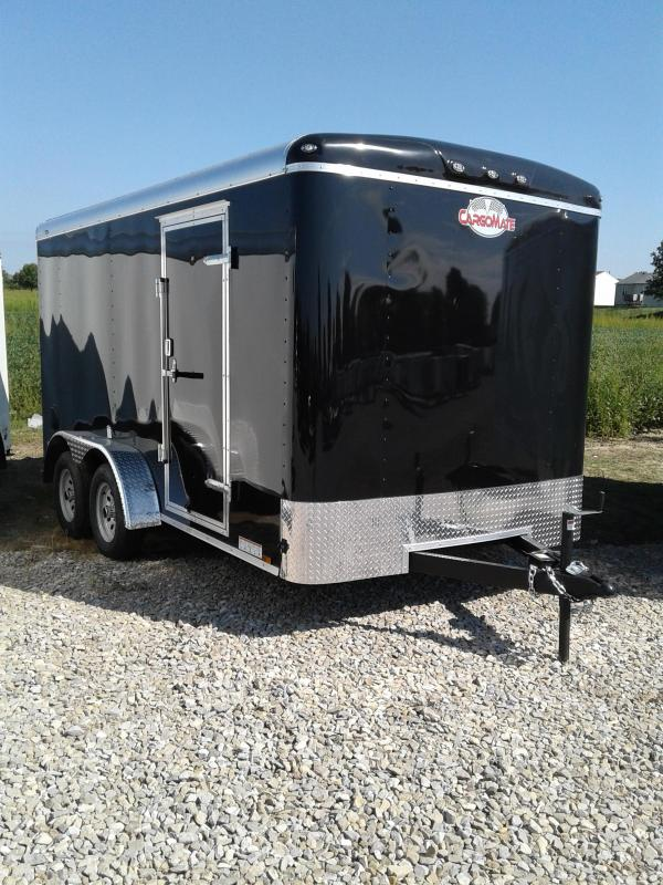 2019 7x14 Cargo Mate BL714TA2 Enclosed Cargo Trailer - Black (RD)(GVW: 7000)