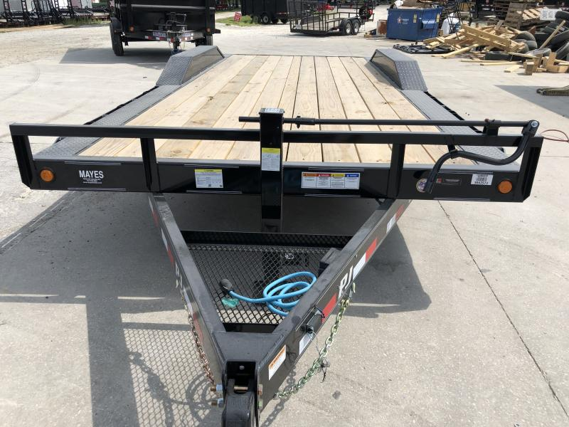 2020 20 Foot (18+2) TA PJ Trailers B6202 Equipment Trailer - Dovetail - Slide In Ramps - 6