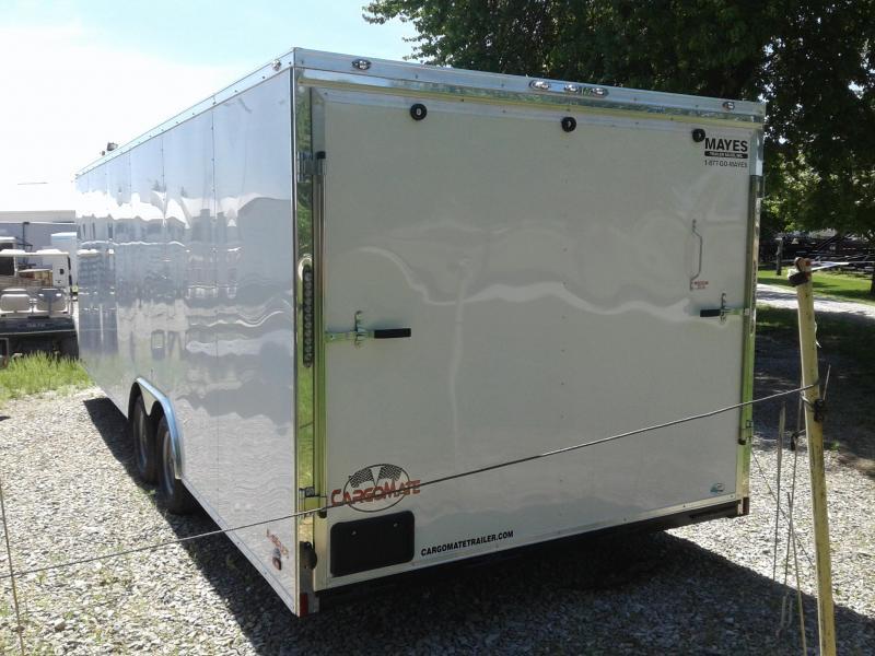 2019 102x24 Cargo Mate EHW8524TA2 Enclosed Cargo Trailer - White (RD)(GVW: 7000)