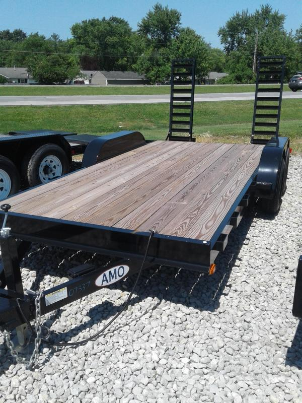 2018 82x16(14+2' Dovetail) American Manufacturing Operations A9916CE Equipment Trailers - w/ 2 Flip-up Ramps (GVW: 9990)