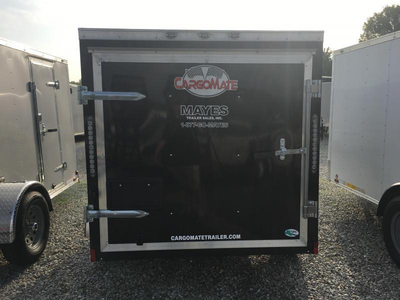 2018 5x8 Cargo Mate SS58SA Enclosed Cargo Trailer - Black (Rear Swing Door)(GVW: 2000)