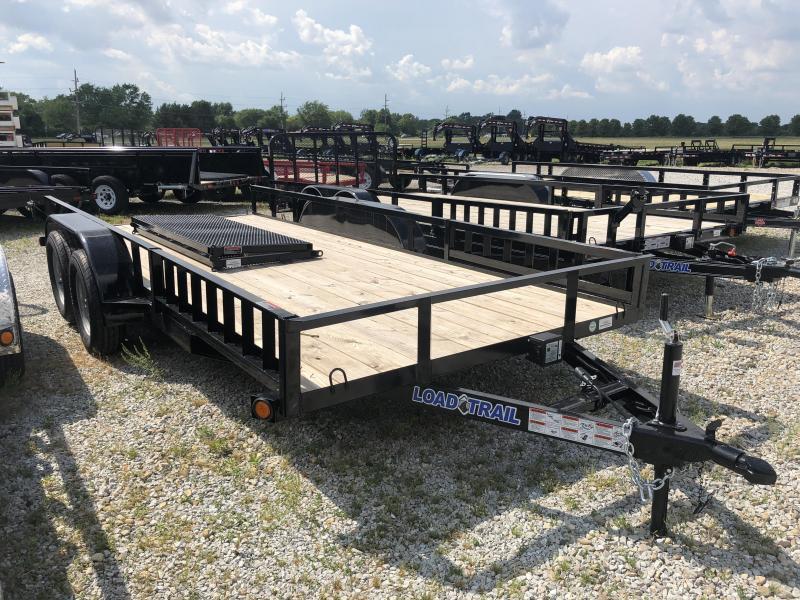 2018 77x16 Load Trail UE Utility Trailer - w/ 5' Bi-Fold Gate (GVW: 2990) *Tandem Axle*