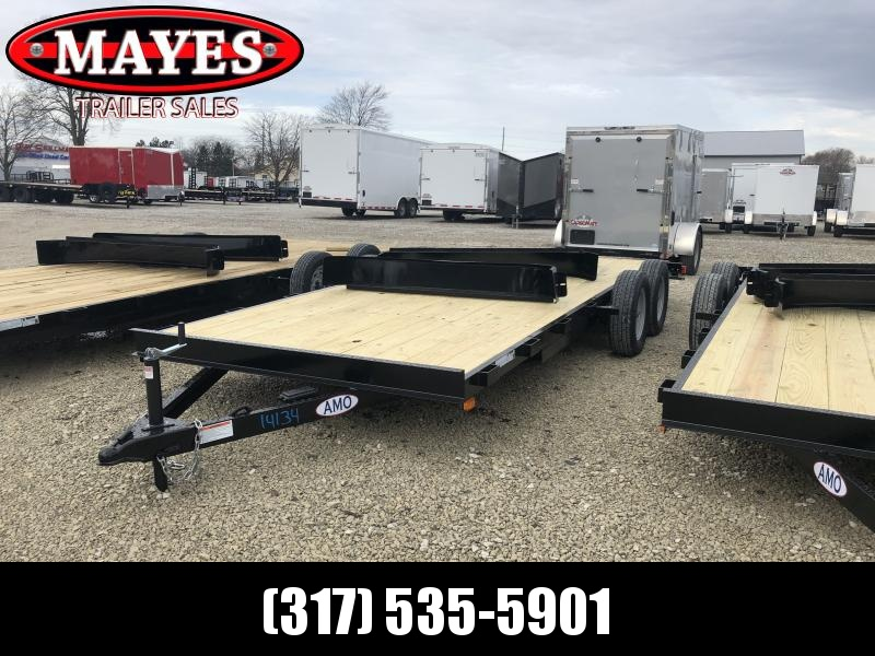 2019 82x18 (16+2) American Manufacturing Operations (AMO) UT182 Utility Trailer - Slide In Ramps (GVW:  7000)