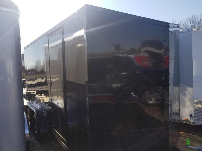 "2020 7x16 Cargo Mate EHW716TA2 Enclosed Cargo Trailer - Side by Side Pkg. - 12"" Additional Height - Black Out Pkg. - Ramp Door (GVW:  7000)"