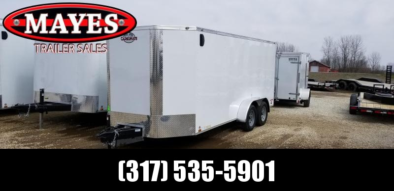 2020 7x16 TA Cargo Mate EHW716TA2 Enclosed Cargo Trailer - Double Door - Tapered Nose (GVW:  7000)