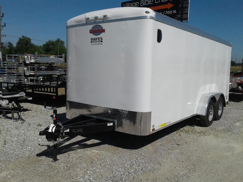 2019 7x18 Cargo Mate BL718TA3 Enclosed Cargo Trailer - Polar White (RD)(GVW: 9899)