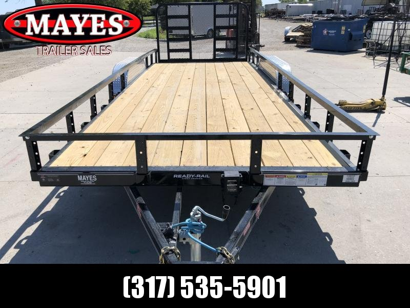 2020 83x20 (18+2) TA PJ Trailers UL202 Utility Trailer - 4 Foot HD Fold Up Gate (GVW:  9899)