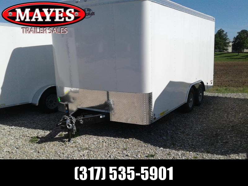 "2019 102x16 Cargo Mate BL816TA3 Enclosed Cargo Trailer - White (DD)(GVW: 9800)(12"" Extra Height)"