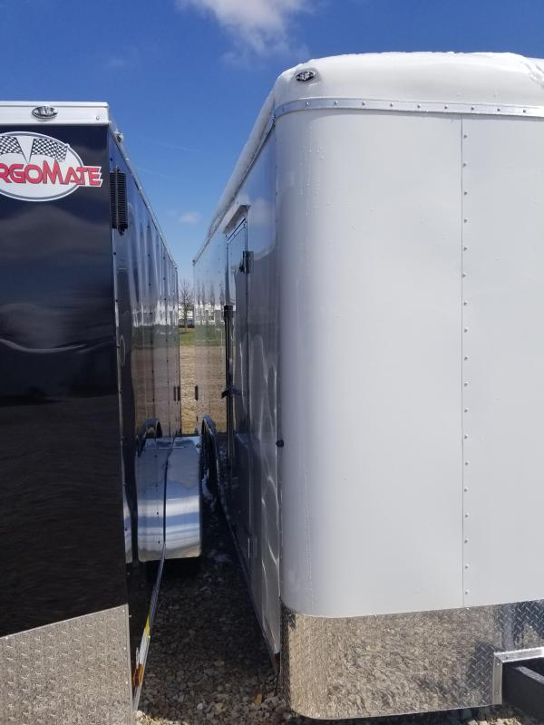 "2019 102x20 Cargo Mate BL820TA2 Enclosed Cargo Trailer - Polar White (RD)(12"" Extra Height)(GVW: 7000)"