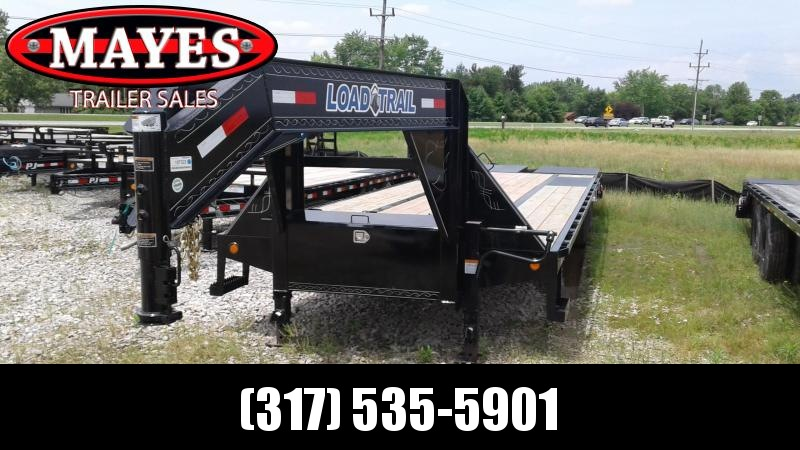2019 102x32 (27+5) TA Gooseneck Load Trail GP0232103 Equipment Trailer - Max Ramps - Self Clean Dovetail (GVW:  22000)