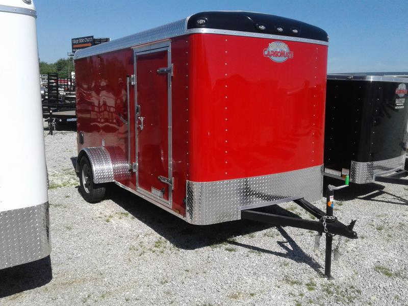 2019 6x12 Cargo Mate BL612SA Enclosed Cargo Trailer - Red (RD)(GVW: 2990)