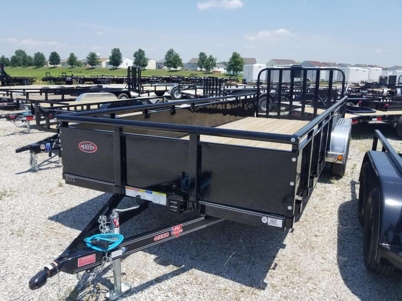 "2018 83x20(18+2' Dovetail) PJ Trailers U8 Utility Trailer - w/ 4' Fold-up Gate (GVW: 7000)(22"" Solid Metal Sides)"