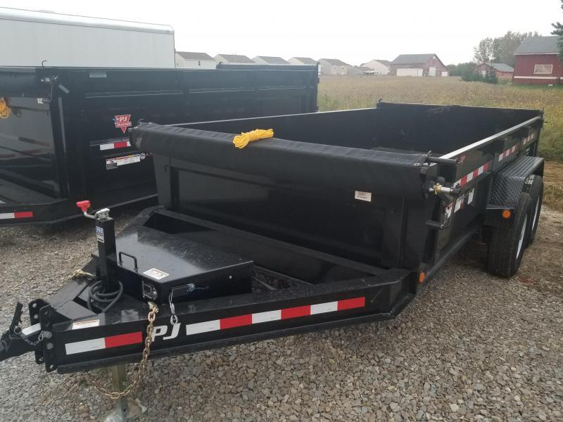 2019 83x14 PJ Trailers DL Low Pro Dump Trailer - (Tarp Kit)(Split/Spreader Gate)(GVW: 14000)