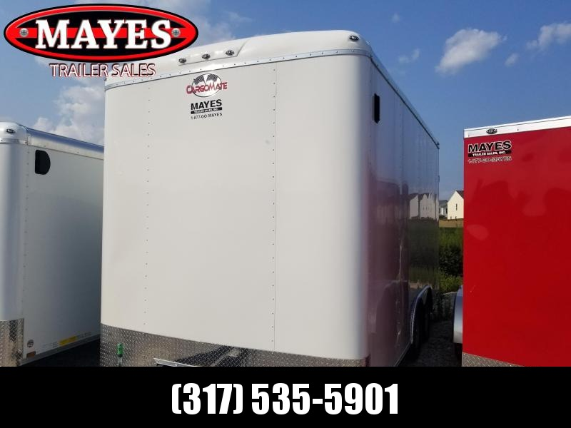 "2019 102x16 Cargo Mate BL816TA2 Enclosed Cargo Trailer - White (RD)(GVW: 7000)(24"" Extra Height)"