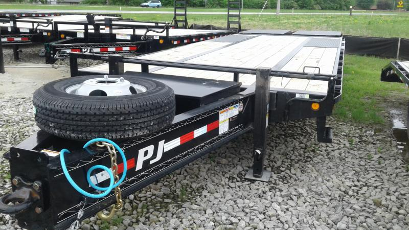 2020 102x25(20+5' Dovetail) PJ Trailers Low-Pro Pintle with Duals Trailer - Pintle - Monster Ramps (GVW:  25000)