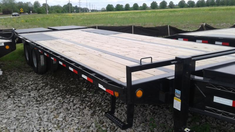 2020 25' PJ Trailers 25' (20+5) Low-Pro Pintle with Duals Trailer - Pintle - Monster Ramps (GVW:  25000)