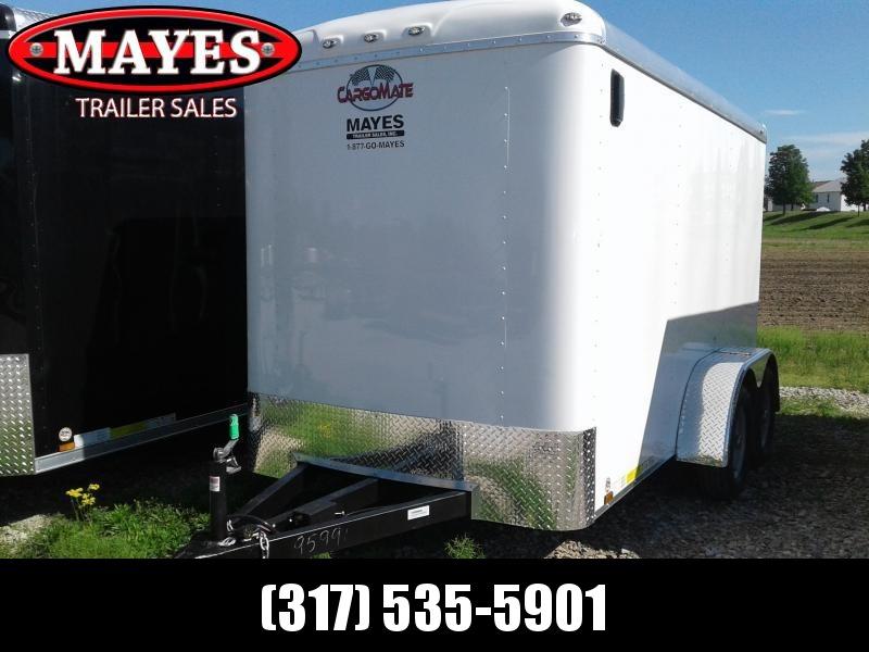2019 6x12 Cargo Mate BL612TA2 Enclosed Cargo Trailer - Polar White (RD)(GVW: 7000)