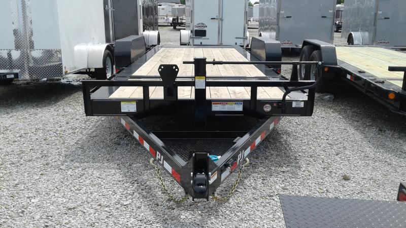 2020 20' (4+16) PJ Trailers 20' HD Equipment Tilt - Oil Bath Axles - Torsion (GVW:  16000)