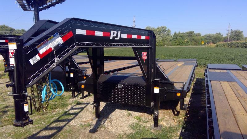 2020 102x30 Foot (25+5) PJ Trailers LD302 Equipment Trailer - Flatdeck - Gooseneck - Toolbox - Flip Over Monster Ramps (GVW:  25000)