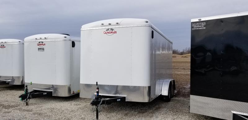 2019 7x14 Cargo Mate BL714TA2 Enclosed Cargo Trailer - Ramp Door - White (GVW:  7000)