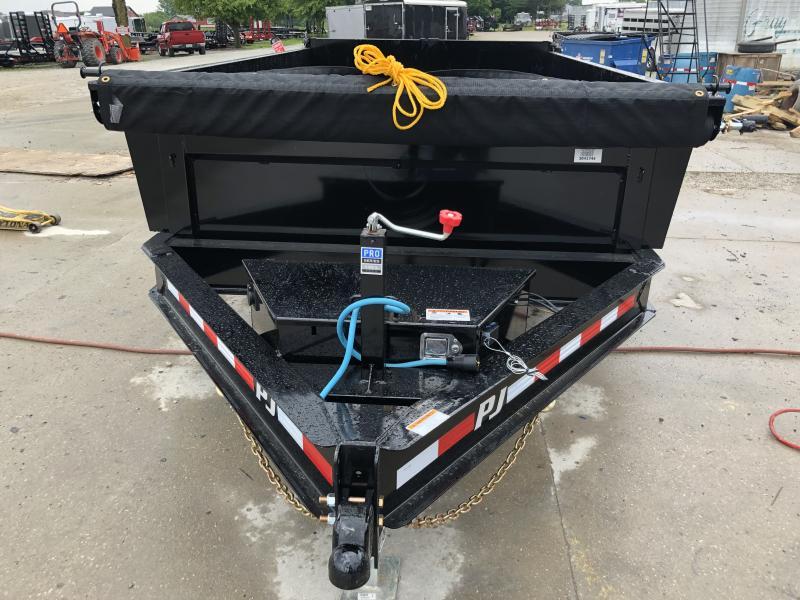 2020 83x14 Low Pro TA P.J. Dump Trailer - Split/Spread Gate - Tarp Kit (GVW:  14000)