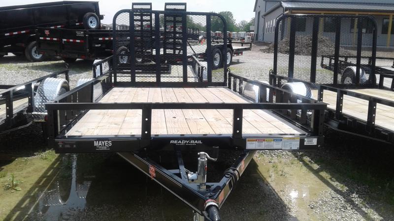2019 77x12 SA PJ Trailers U7121 Utility Trailer - Tailgate - ATV Ramps (GVW:  2995)