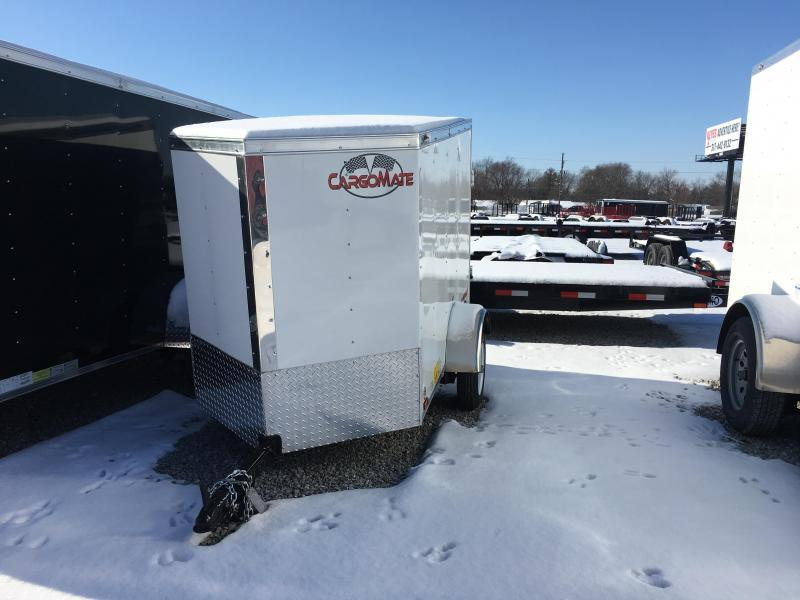 2018 4x6 Cargo Mate EHW46SA Cargo / Enclosed Trailer - Rear Swing Door (GVW: 2000)