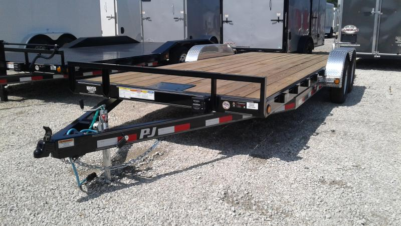 2020  20 (18+2) PJ Trailers C5202 Car / Racing Trailer - Rear Slide In Ramps - Winch Plate (GVW:  7000)
