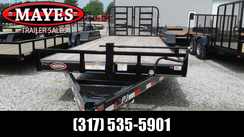 2019 83x22' (20+2)   PJ Trailers CC222 Equipment Trailer - Split HD Gate (GVW:  14000)