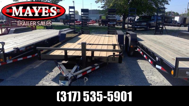 2020 B-B 83x20  (18+2) Skid Loader CBCT2014E-S Equipment Trailer - Flip Up Ramps (GVW:  14000)