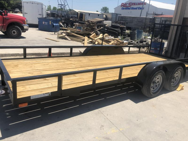2019 76x18 American Manufacturing Operations (AMO) UT182 Utility Trailer